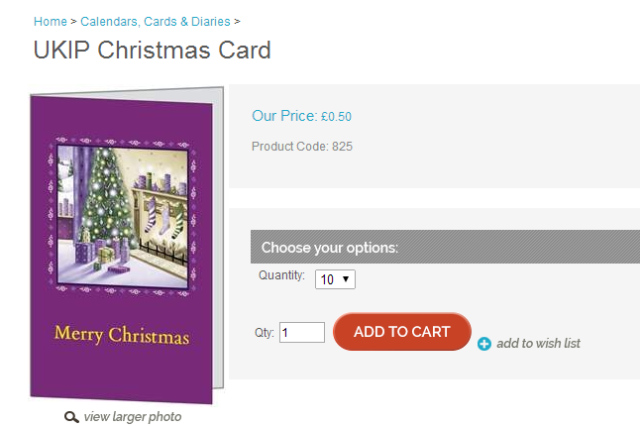 UKIP Christmas card