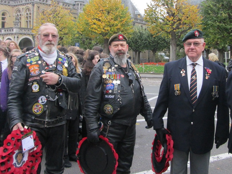 British veterans from many of the UK's recent wars came together in Ypres. [James Crisp]