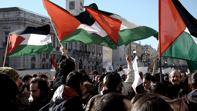 Palestinian solidarity march. Madrid, 2009. [Sebastián Losada/Flickr]