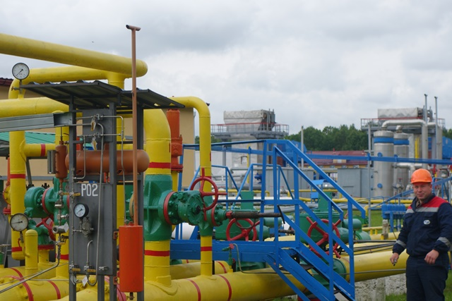 Gas storage facility in Western Ukraine