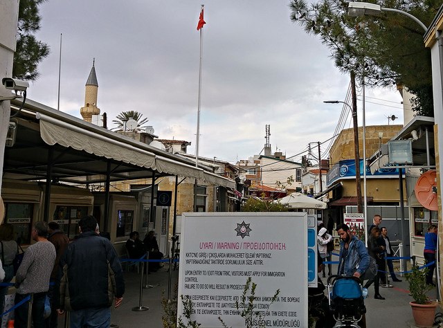 The Turkish side of the border crossing