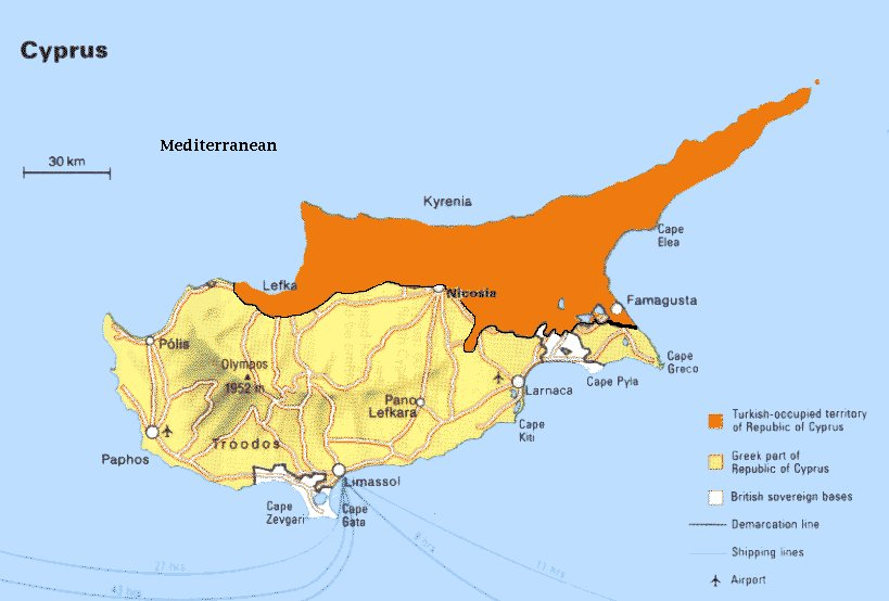 Turkey Says It Could Annex Northern Cyprus EURACTIVcom - Map of northern cyprus in english