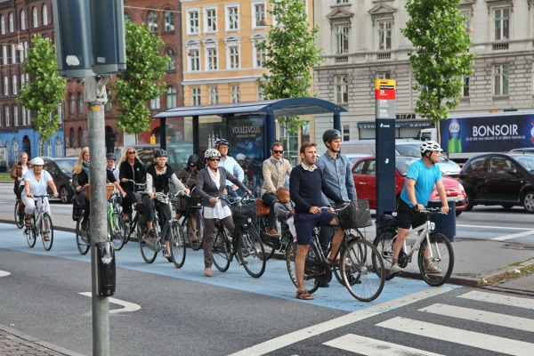 Biking in Copenhagen
