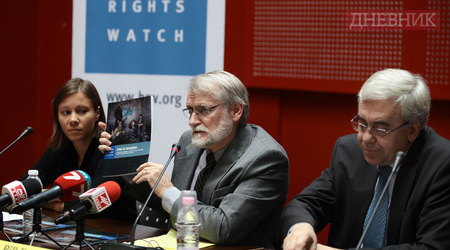 Human Rights Watch presents its report in Sofia. Photo Dnevnik, the EURACTIV partner in Bulgaria