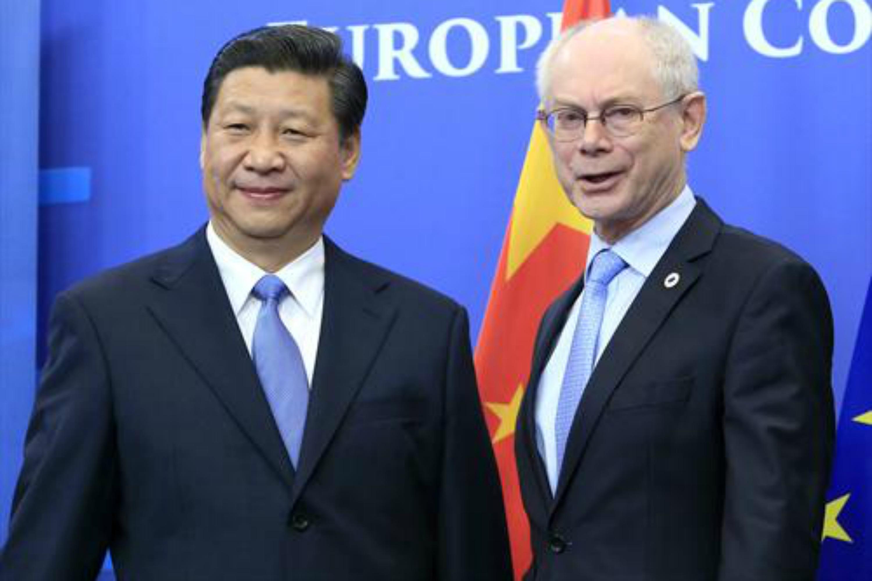 Xi Jinping and Herman Van Rompuy