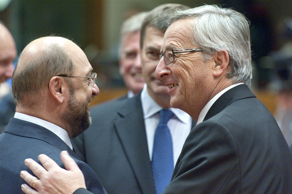 Martin Schulz and Jean-Claude Juncker took part in a final debate on Tuesday (20 May)  just 5 days ahead of the 2014 EU elections. Brussels 2012 [European Parliament/Flickr]