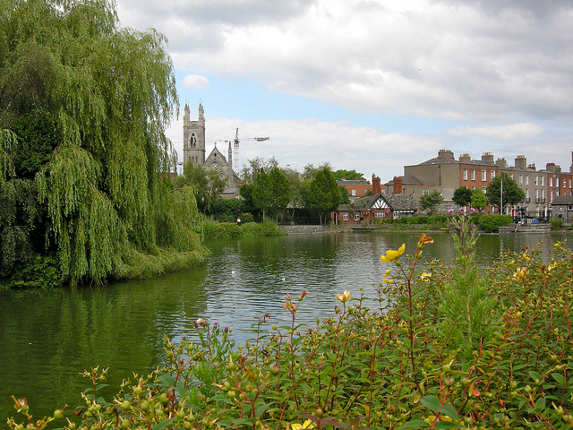 Blessington Basin in Dublin, Ireland, one of the areas designated by the City Council as a 'quiet area' [IrishFireside. 2010].