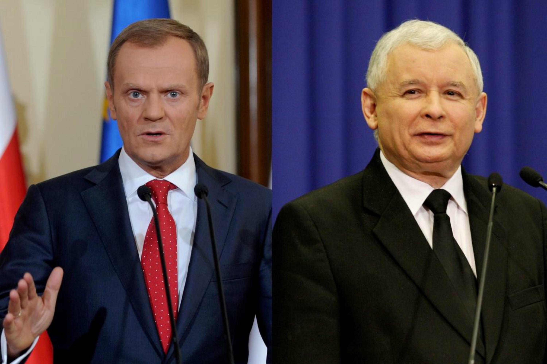 Donald Tusk and Jaros?aw Kaczy?ski