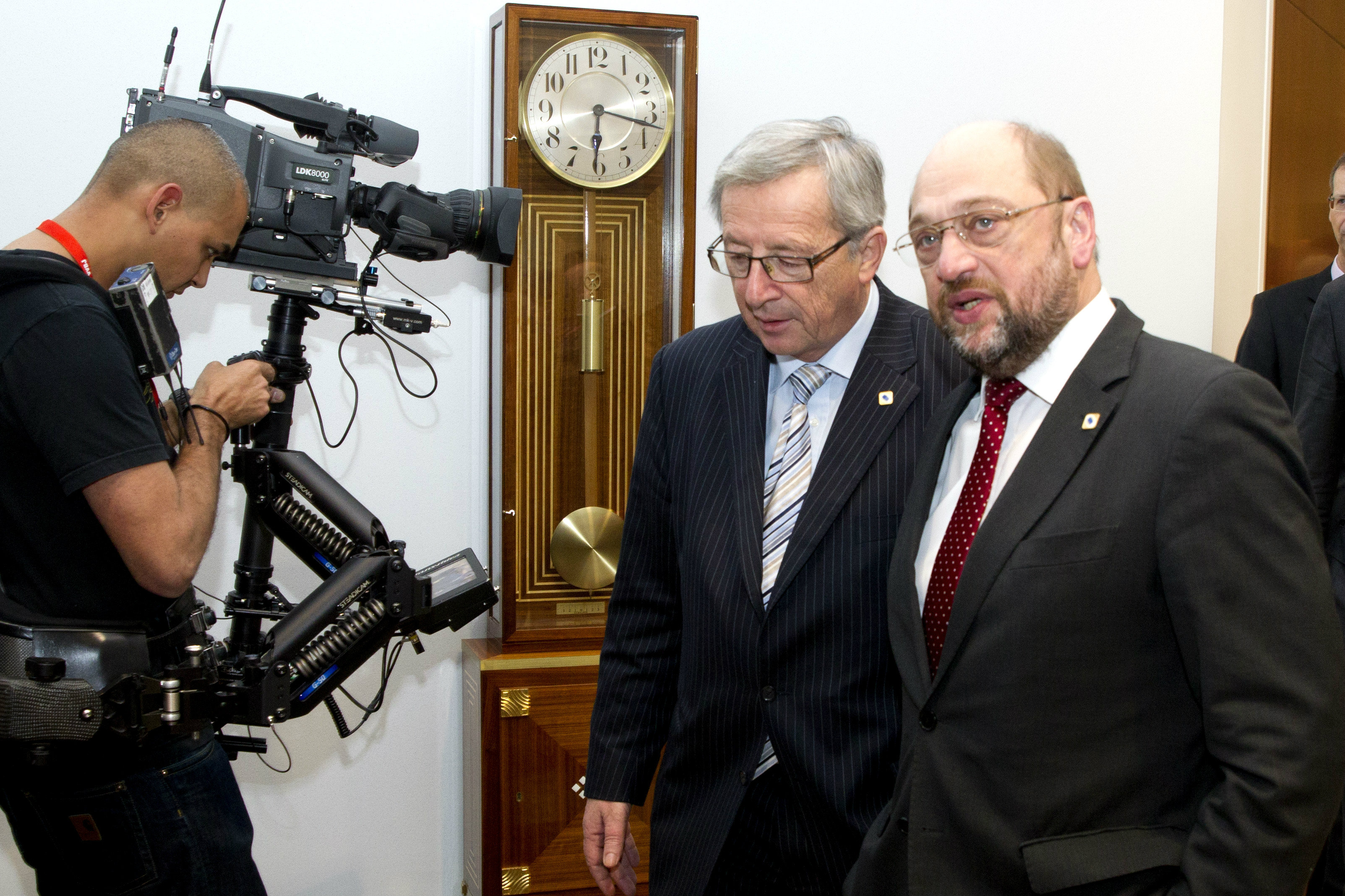 Former Luxembourg Prime Minister Jean-Claude Juncker and European Parliament President Martin Schulz. December 2012 [The Council of the European Union]