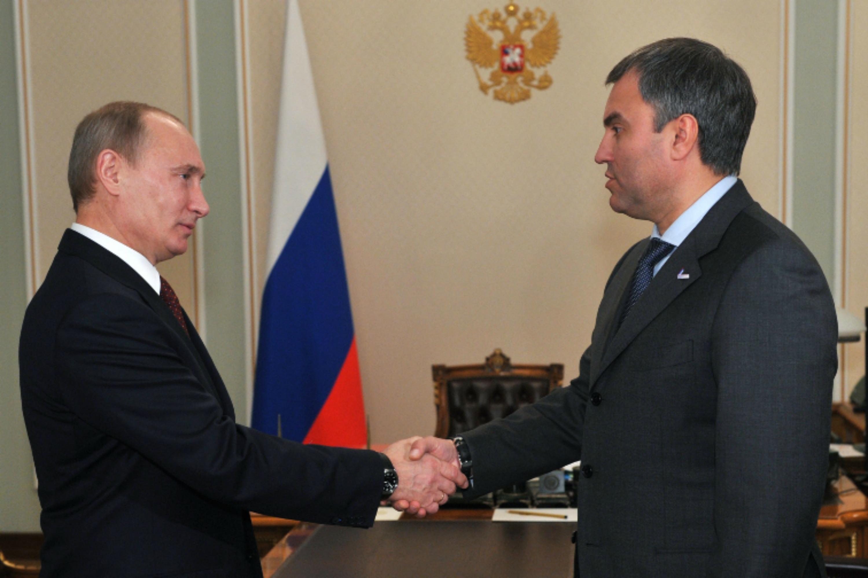 Vladimir Putin and Vyacheslav Volodin. Photo the Kremlin website