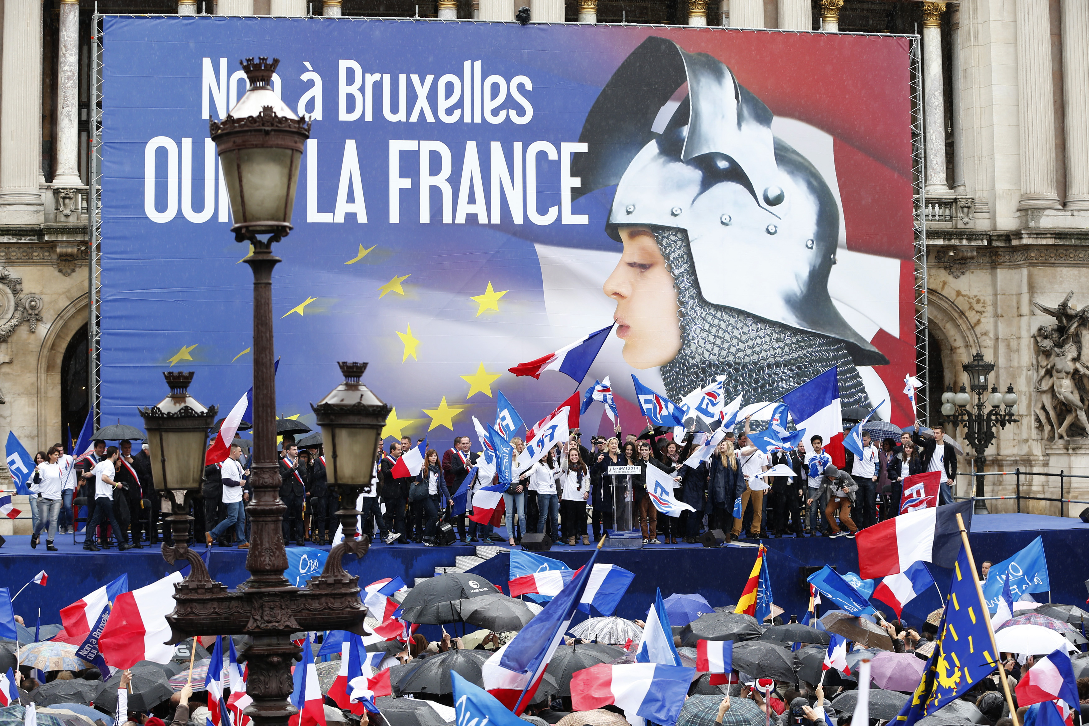 1 May 2014 rally in Paris of Front National. Photo Reuters