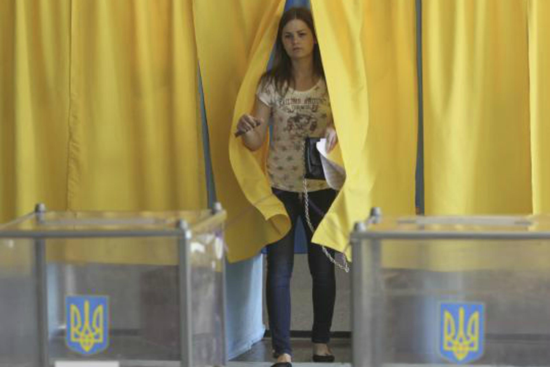 Ukrainian woman has cast her vote