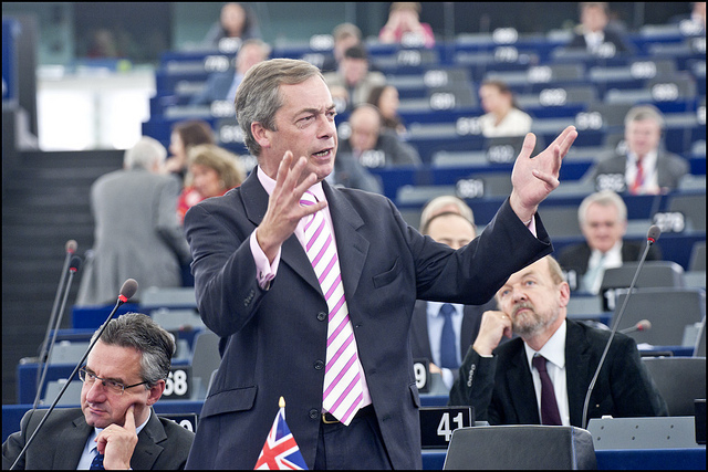Nigel Farage au Parlement européen, 2011, [EP/Flickr]