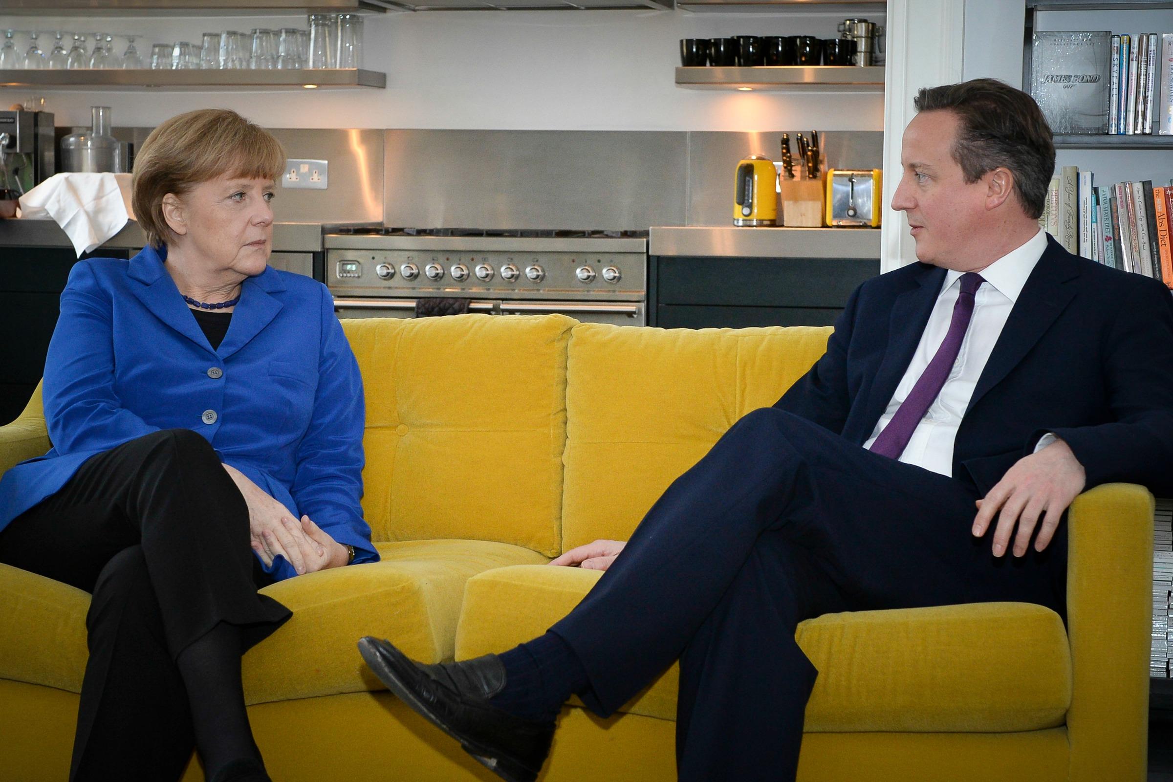 German chancellor Angela Merkel and British PM David Cameron [Number 10/Flickr]