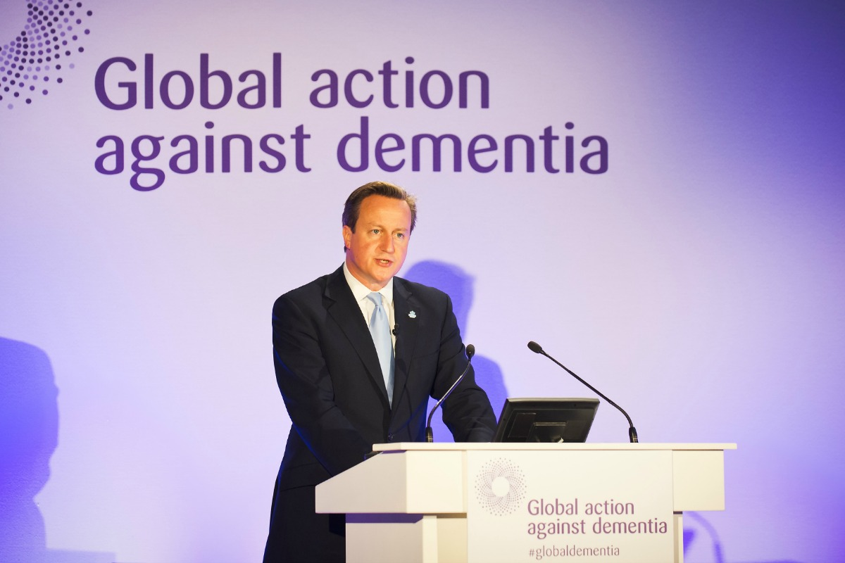 David Cameron attends the first Global Dementia Legacy Summit in London, June 19, 2014 [Photo: Number 10/Flickr]