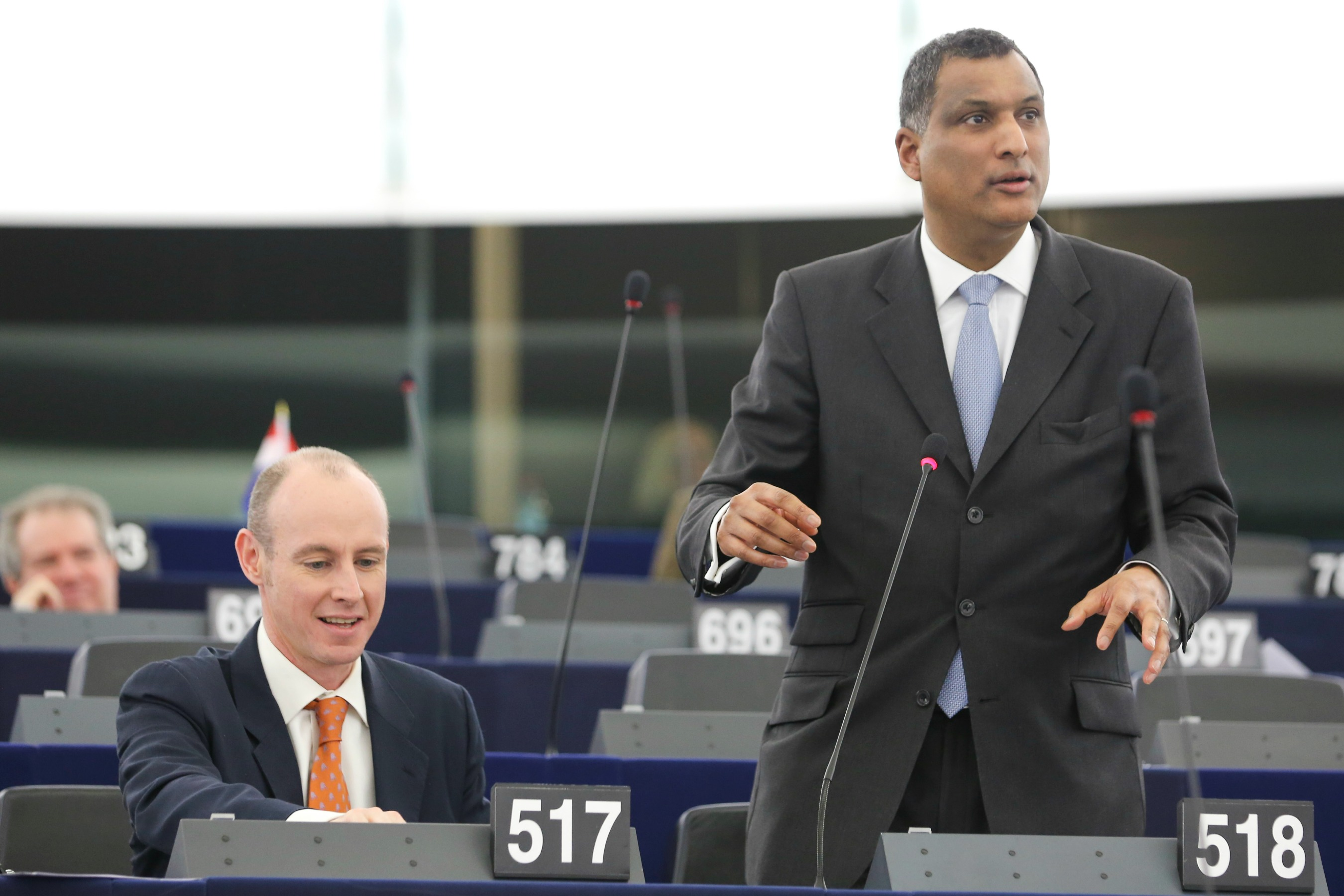 Daniel Hannan and Syed Kamall, leading Conservative MEPs [European Parliament]