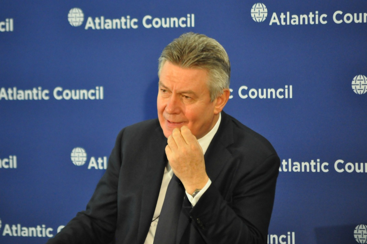 EU Commissioner for Trade Karel De Gucht at the Atlantic Council, February 18, 2014 [Photo: Atlantic Council/Flickr]