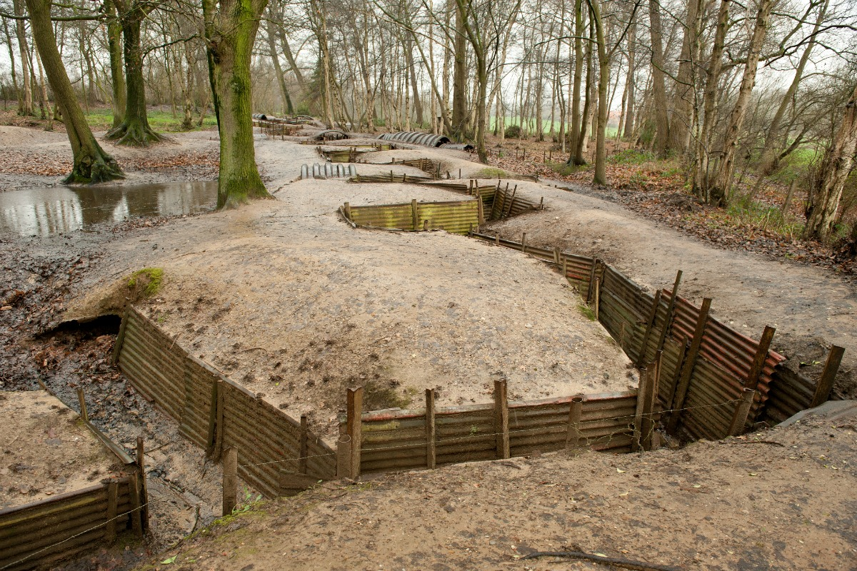 World War One Trenches in Ypres, Belgium [Shutterstock/John Gomez]