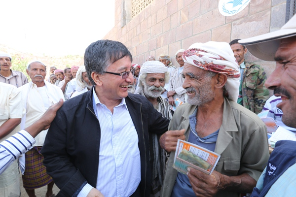 Bishow Parajuli, the World Food Programme's representative in Yemen, in the capital, Sana'a. [Fares Khoailed/WFP].