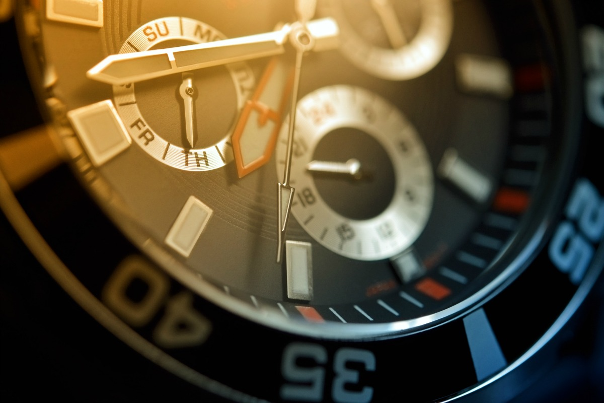 Luxury watch, chronograph closeup [Shutterstock]
