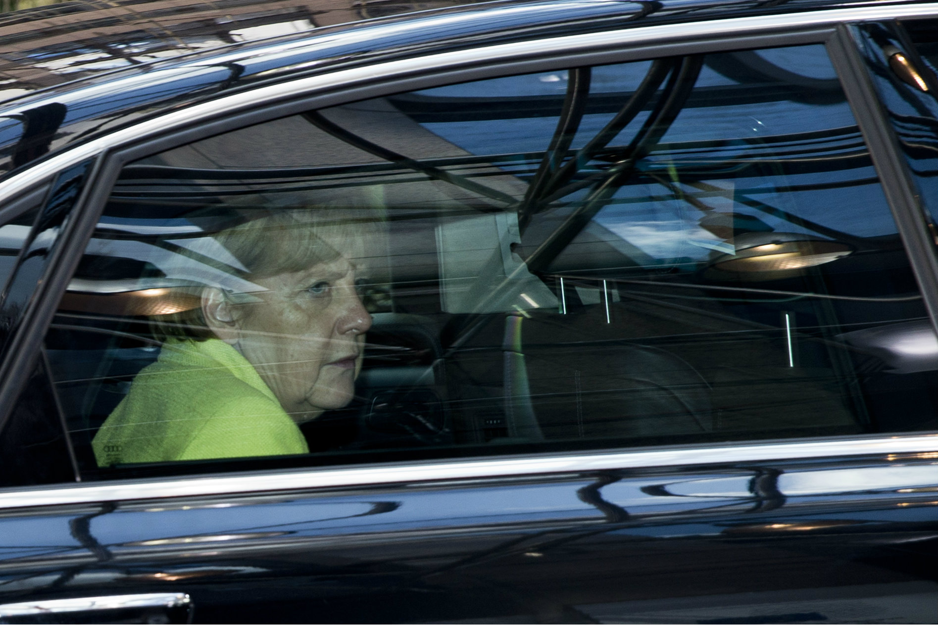 Merkel arrives in Brussels for a meeting with top EU leaders. 16 July 2014 [The Council of the European Union]
