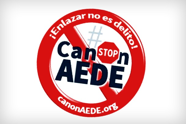 "Campaign against Spain's canon AEDE law: ""Linking is not a crime"" [Miguel Angel Aranda (Viper)/Flickr]"