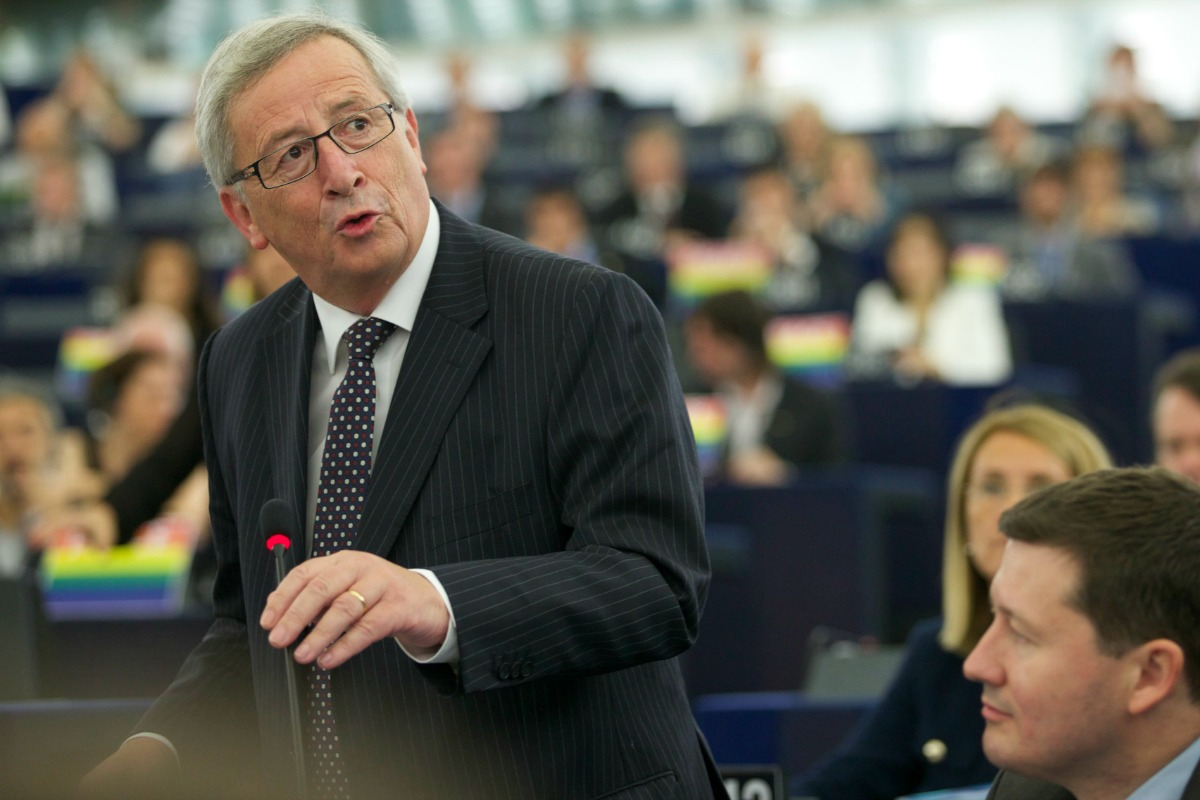 Jean-Claude Juncker, President-elect of the European Commission, speaks in Parliament, 15 Jly 2014 [Photo: EC]