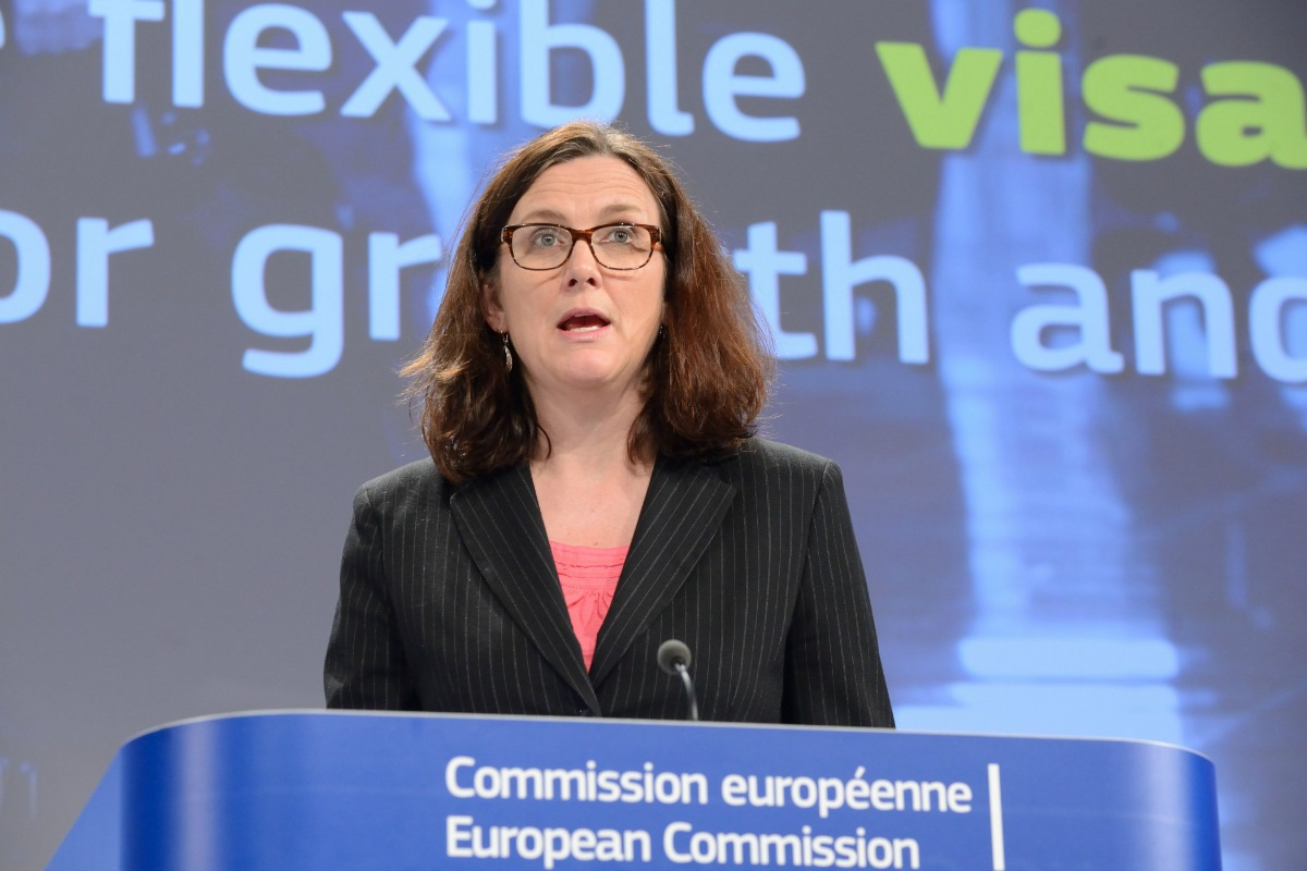 Cecilia Malmström presents proposals for more flexible visa rules in Brussels, 1 April 2014