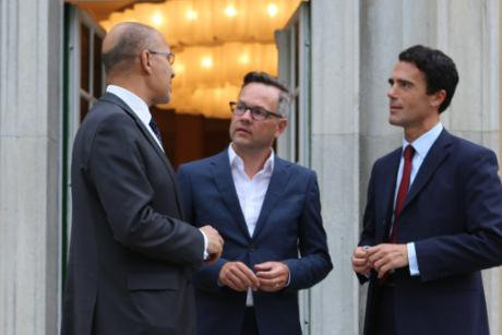 State Secretaries for European Affairs, Michael Roth (Germany), Harlem Désir (France) and Sandro Gozi (Italien) met on Wednesday (30 July) in Berlin. [German Foreign Office]