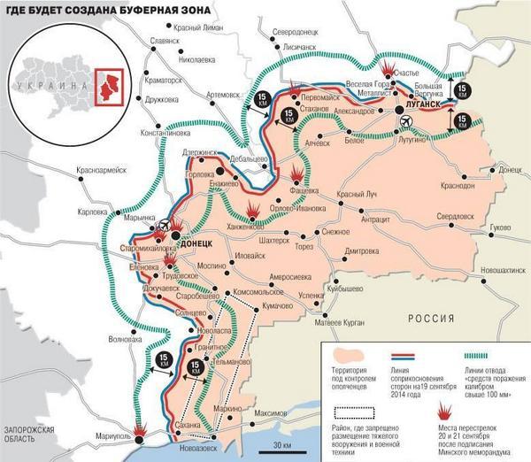 Buffer zone in Eastern Ukraine