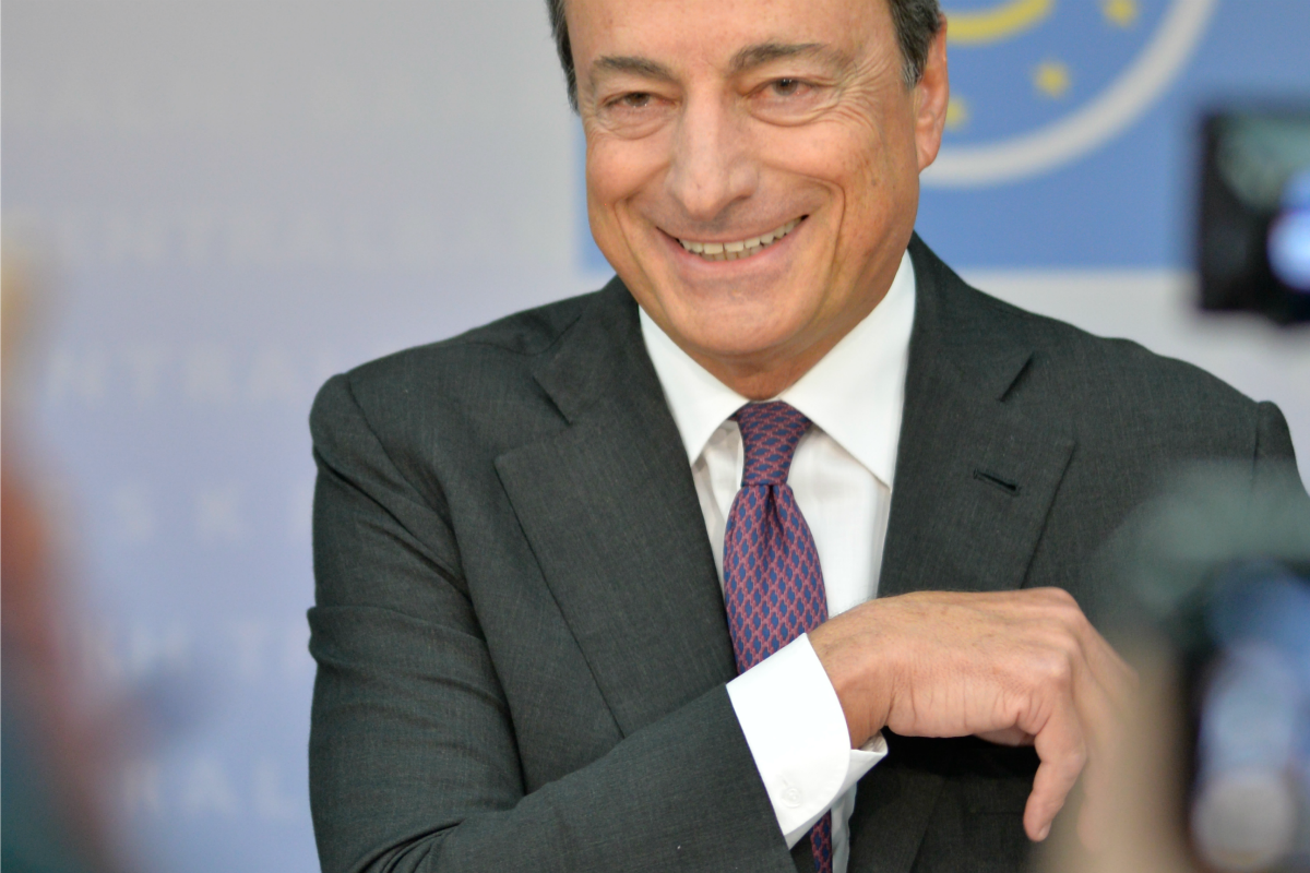 Mario Draghi at the ECB Press Conference in Frankfurt am Main, on 4 Sept. 2014 [ECB/Flickr]