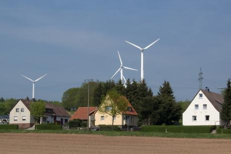 Germans currently pay around 30 cents per kWh for energy, about 6 cents of which makes up the green energy surcharge to support renewables. [Gunnar Ries}