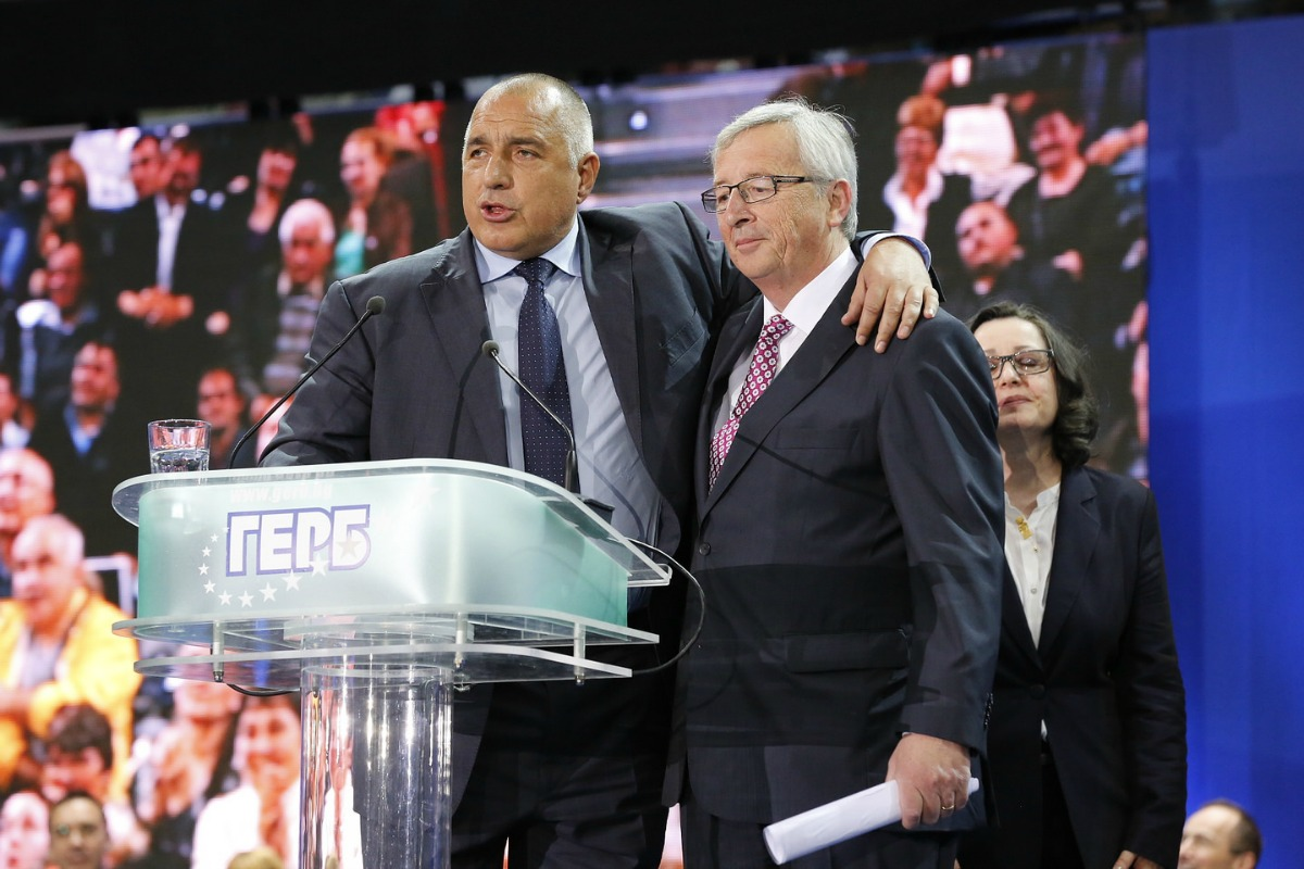 Jean-Claude Juncker and Boyko Borissov in Sofia, Bulgaria, 27 April 2014 [Jean-Claude Juncker/Flickr]