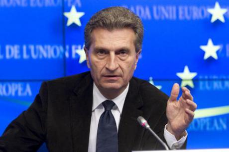 EU Energy Commissioner Günther Oettinger favours an EU-wide solution to road tolling. March 2014 [The Council of the European Union]