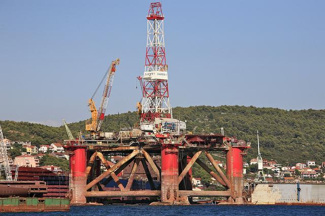 Zagreb 1 oil rig.