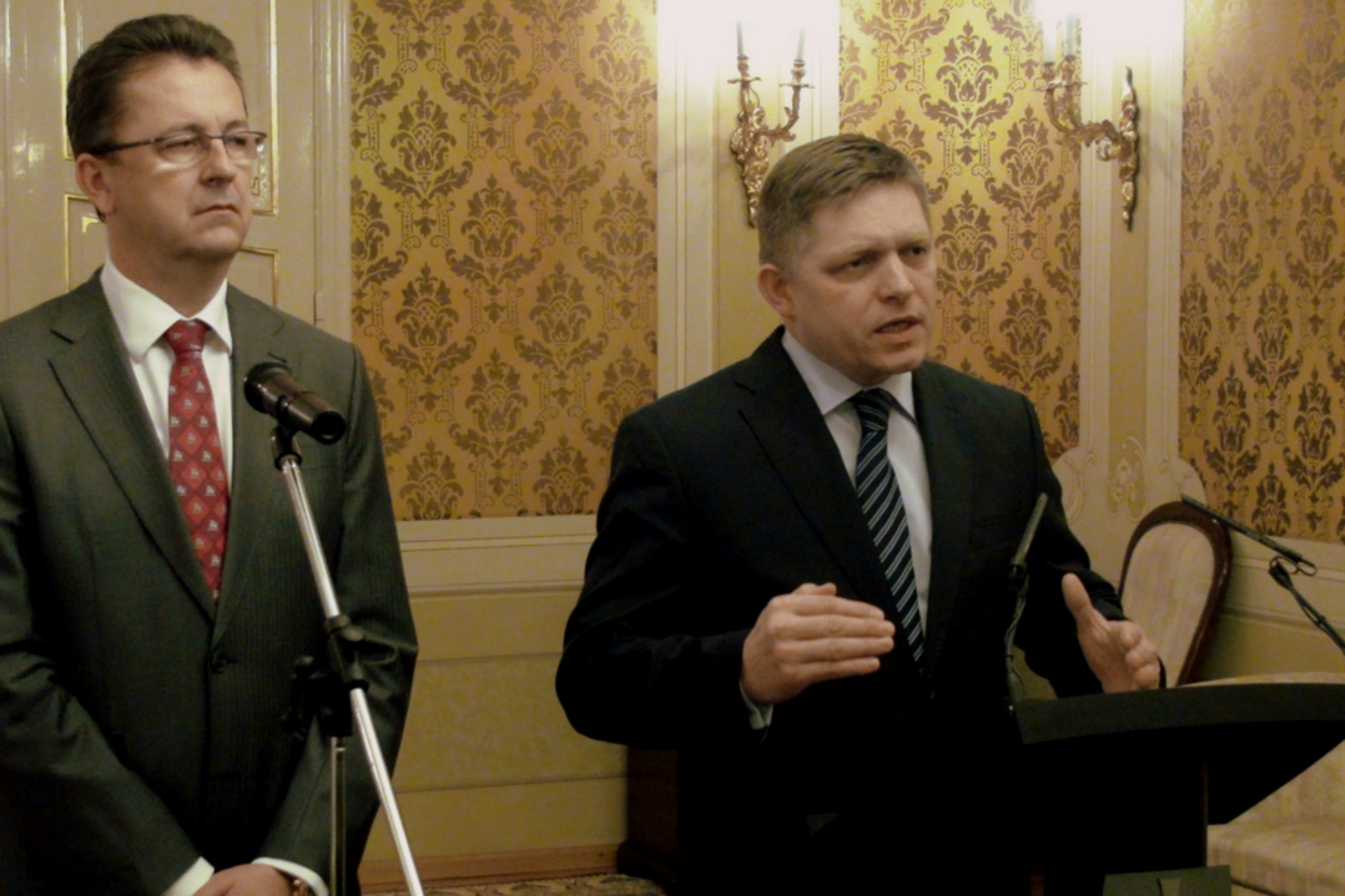 Robert Fico (right) Photo Slovak government