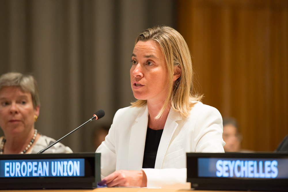 Federica Mogherini is the High Representative of the EU for Foreign Policy.