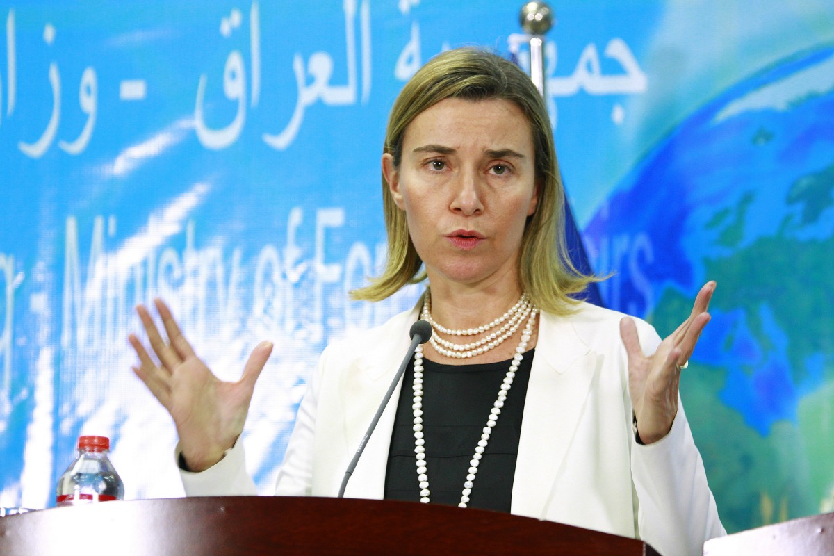 Federica Mogherini, High Representative of the Union for Foreign Affairs and Security Policy and Vice-President of the EC, speaks during a visit to Iraq, 22 Dec. 2014
