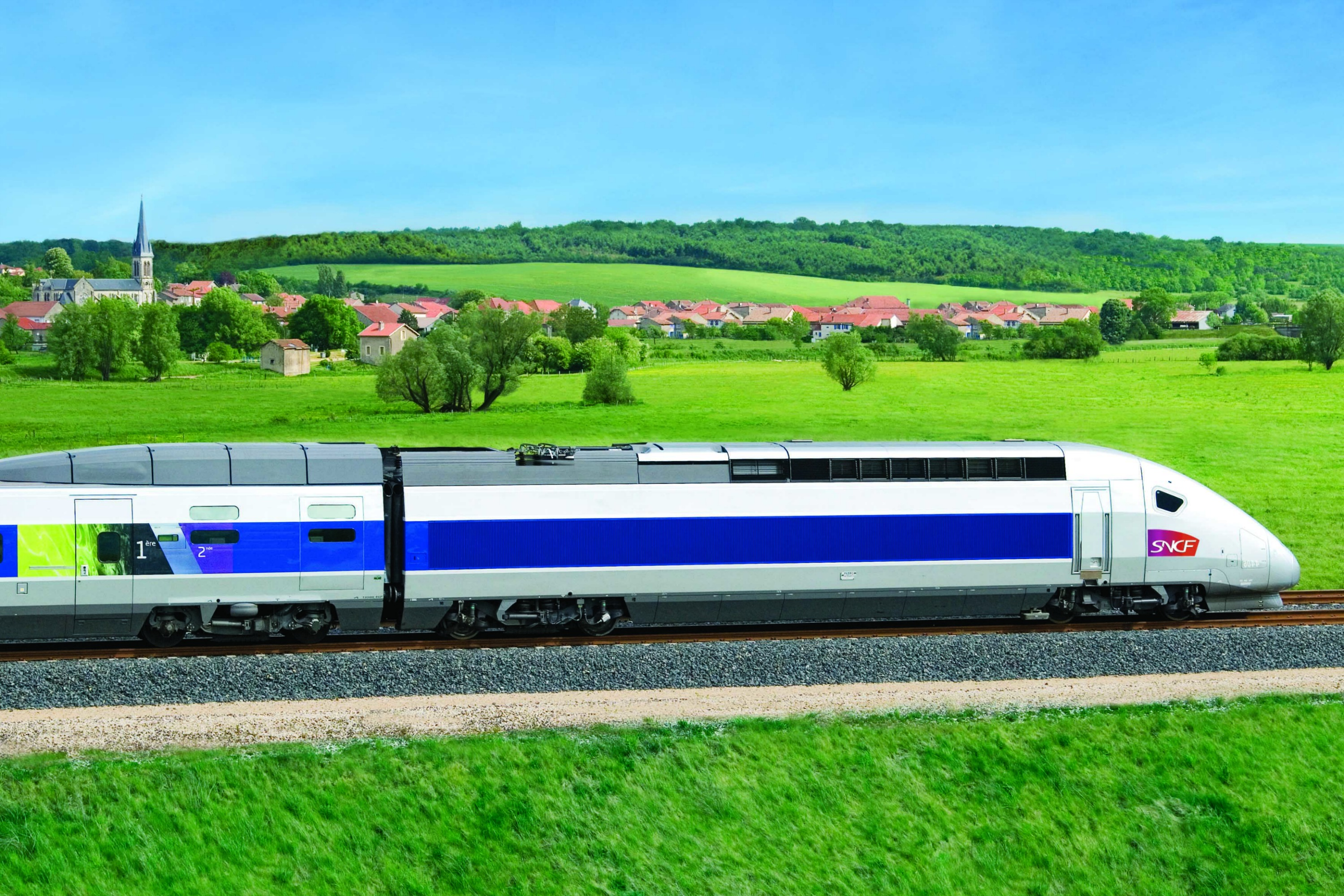 A French-made high-speed train