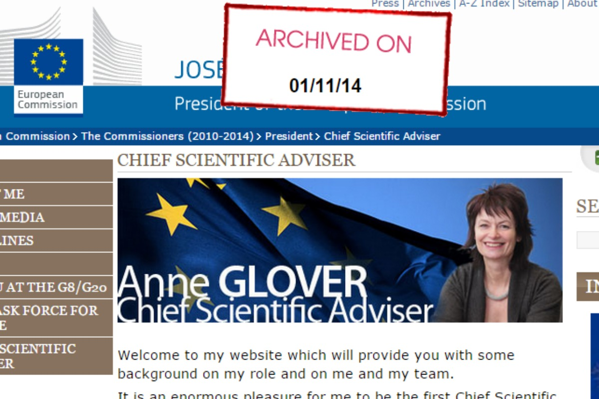 Anne Glover's EU Commission page