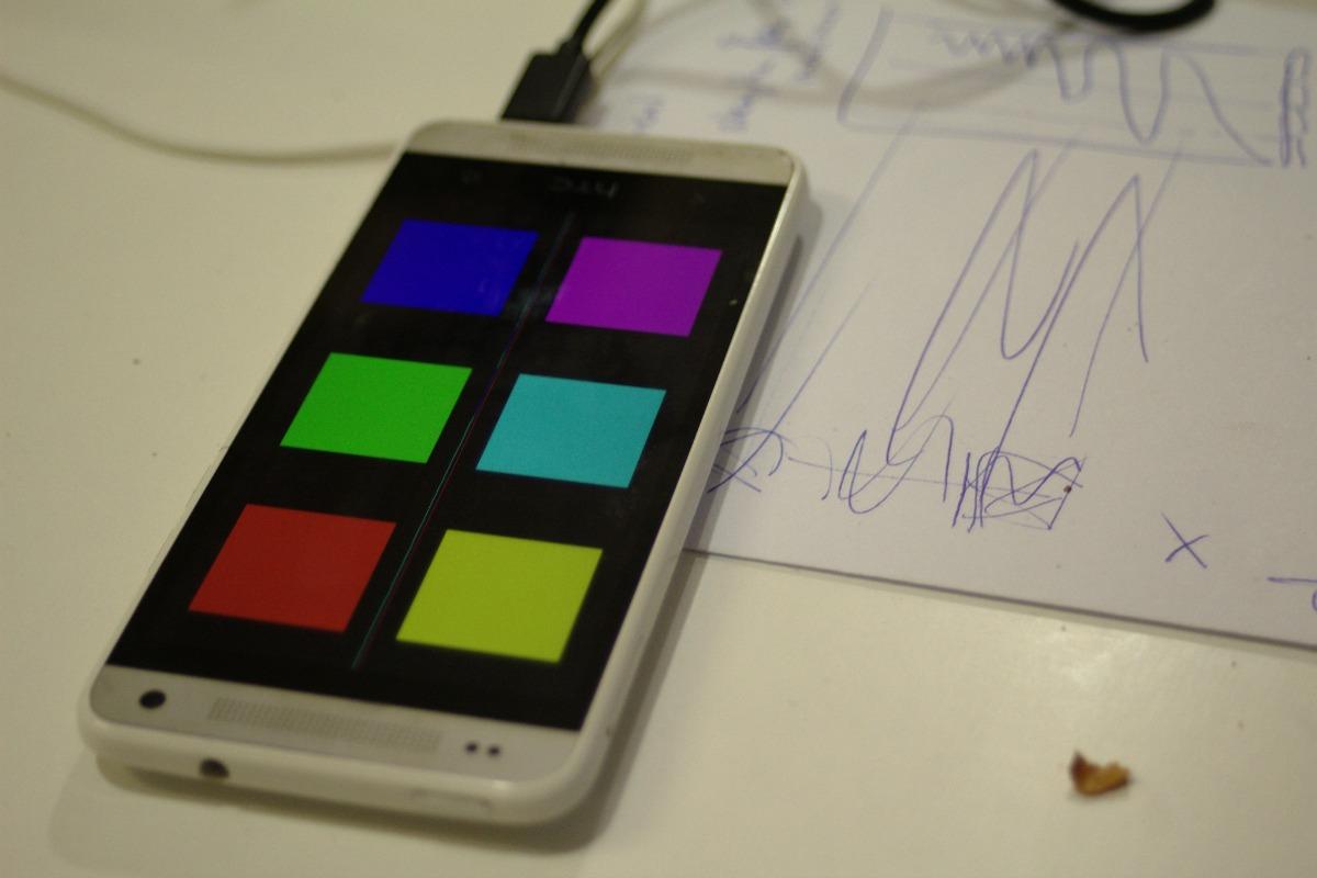 Mobile colour game