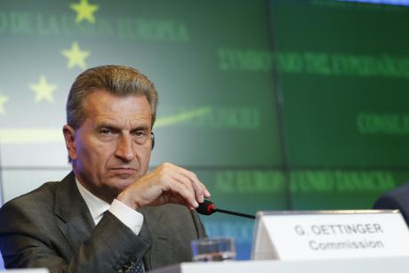 EU Energy Commissioner Günther Oettinger. [The Council of the European Union]