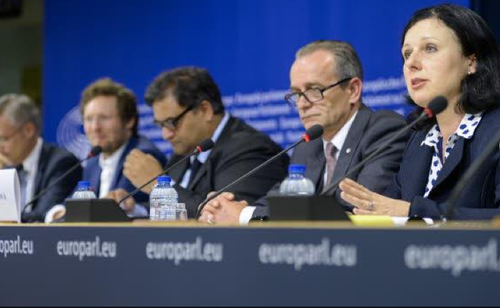 EU negotiators after the first trialogue meeting on data protection