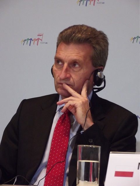 EU Digital Commissioner Günther Oettinger has signaled serveral times that he's in favour of an EU 'Google tax'