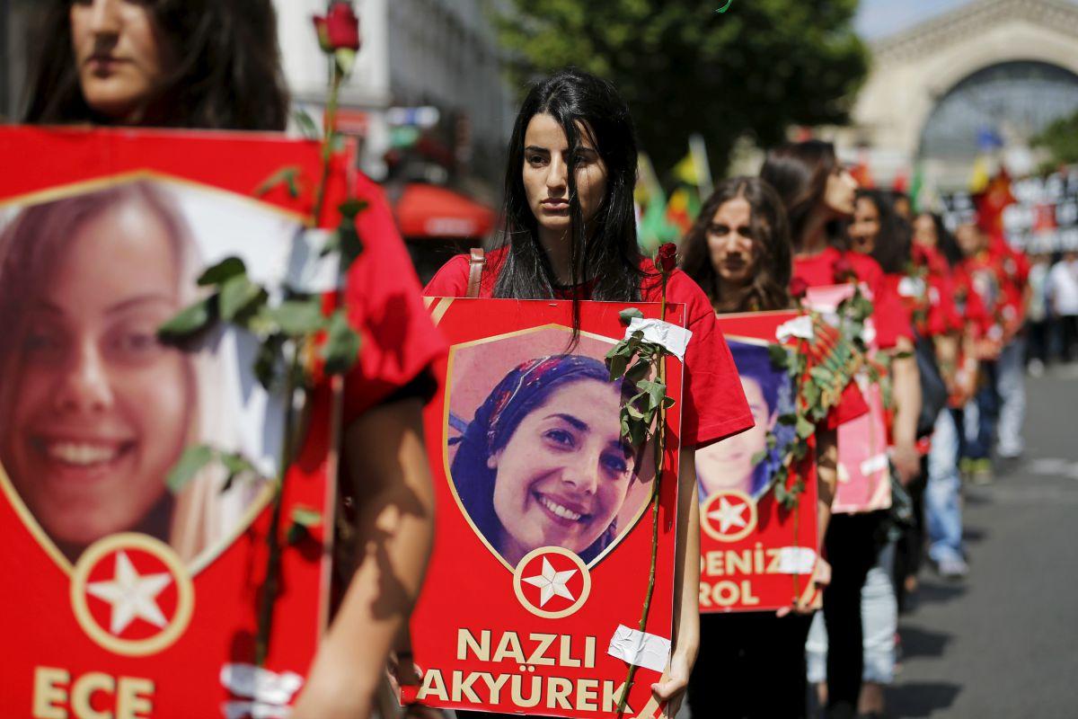 Kurdish demonstration in Paris