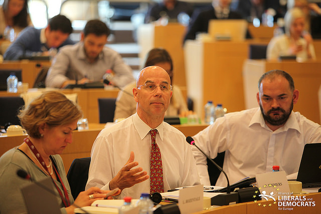 Paul Timmers, director of the Sustainable & Secure Society Directorate in the European Commission, at a discussion on cybersecurity at the European Parliament in June