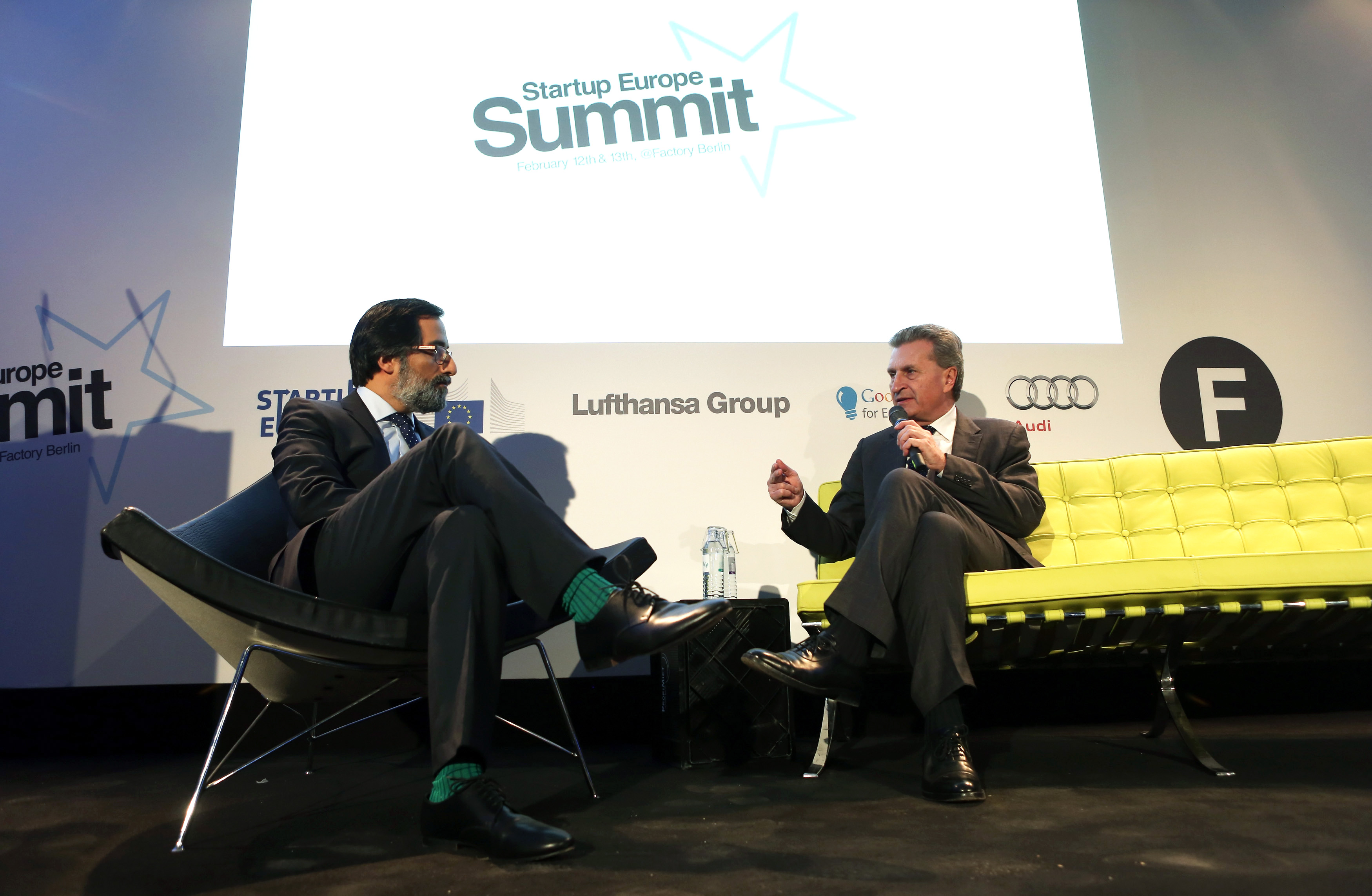 EU Commissioner Oettinger, Vice President Ansip and former Commissioner Neelie Kroes all attended the Startup Europe summit in Berlin earlier this year