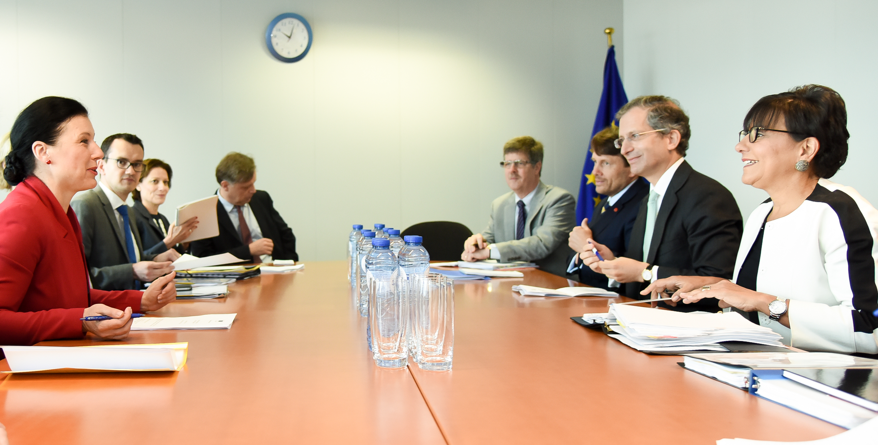 US Secretary of Commerce Penny Pritzker met with EU Justice Commissioner Vera Jourová this July in Brussels