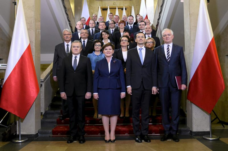 Image result for Photos Beata Szydlo,of Polish Parliament with President Duda