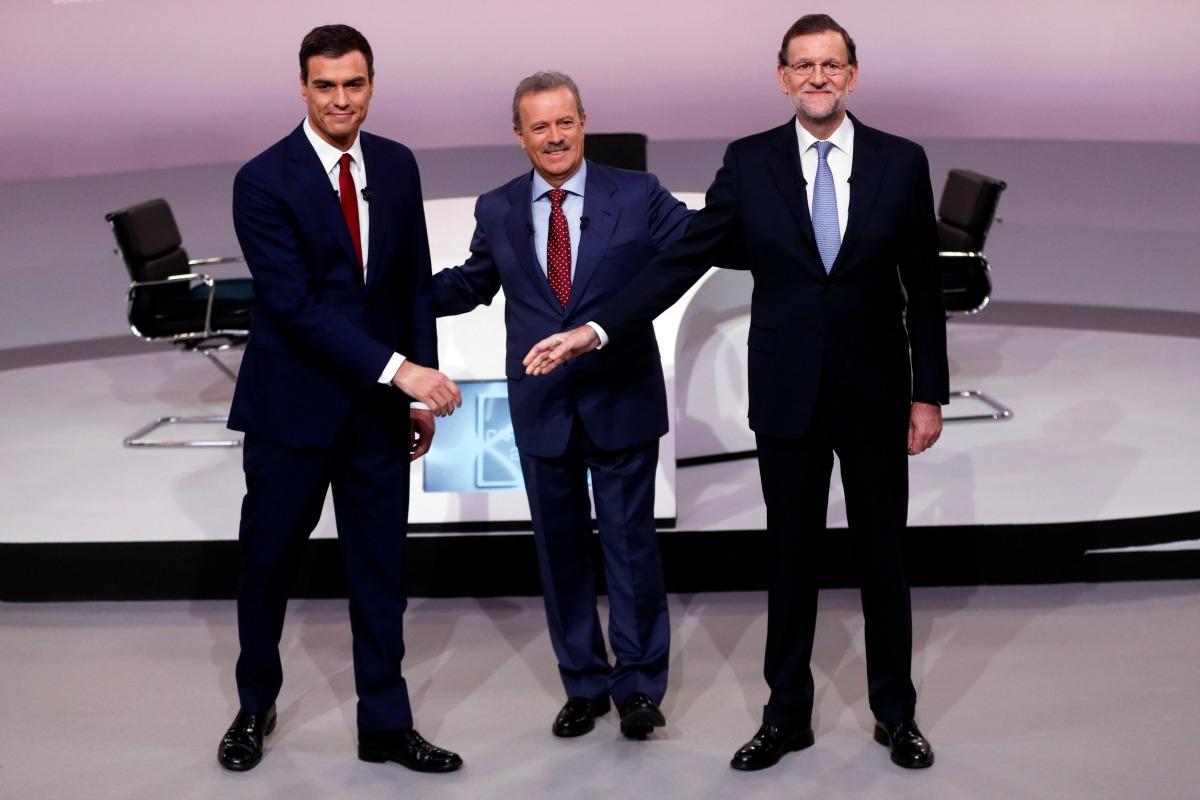Sanchez and Rajoy in TV debate